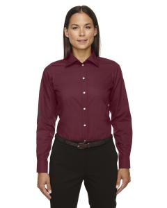 Burgundy Ladies Crown Woven Collection Solid Broadcloth