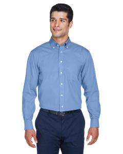 Light Blue Men's Crown Woven Collection™ Solid Oxford