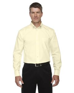 Transprnt Yellow Men's Crown Woven Collection™ Solid Oxford