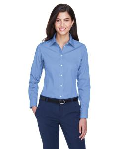 Light Blue Ladies' Crown Woven Collection™ Solid Oxford