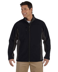 Black/dk Charcoal Men's Soft Shell Colorblock Jacket