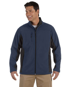Navy/dk Charcoal Men's Soft Shell Colorblock Jacket