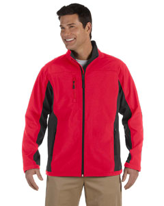 Red/dk Charcoal Men's Soft Shell Colorblock Jacket