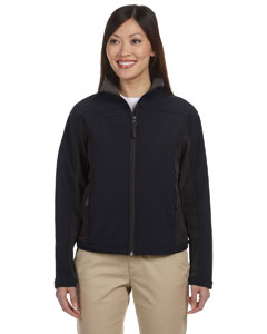 Black/dk Charcoal Women's Soft Shell Colorblock Jacket