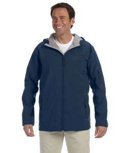 Navy Men's Hooded Soft Shell Jacket