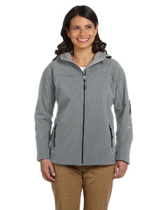 Charcoal Women's Hooded Soft Shell Jacket