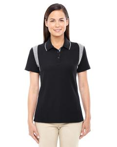 Black/ Grey Hthr Ladies' DRYTEC20™ Performance Colorblock Polo