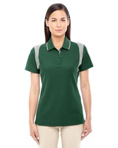 Forest/ Gry Hthr Ladies' DRYTEC20™ Performance Colorblock Polo