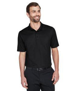 Black CrownLux Performance Men's Plaited Polo