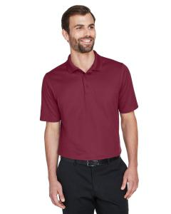 Burgundy CrownLux Performance Men's Plaited Polo