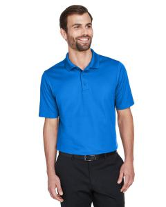 French Blue CrownLux Performance Men's Plaited Polo