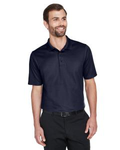 Navy CrownLux Performance Men's Plaited Polo