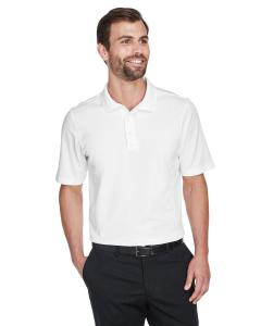 White CrownLux Performance Men's Plaited Polo