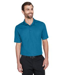 Dark Teal CrownLux Performance Men's Plaited Polo