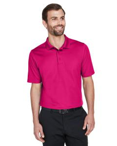 Crown Raspberry CrownLux Performance Men's Plaited Polo