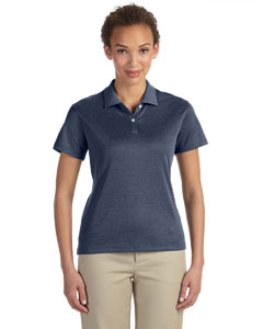 Navy Heather Women's Pima-Tech™ Jet Piqué Heather Polo