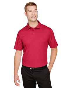 Red Heather CrownLux Performance™ Men's Address Melange Polo