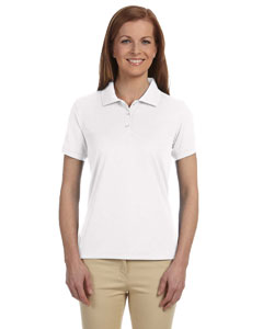 White Women's Dri-Fast™ Advantage™ Solid Mesh Polo