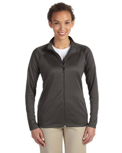 Dk Grey Heather Ladies' Stretch Tech-Shell™ Compass Full-Zip