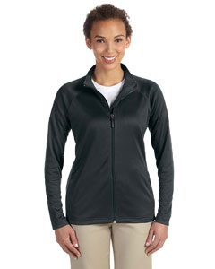 Black Ladies' Stretch Tech-Shell™ Compass Full-Zip