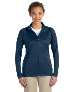 Navy Ladies' Stretch Tech-Shell™ Compass Full-Zip