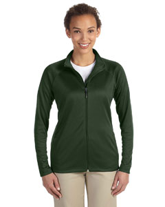 Forest Heather Ladies' Stretch Tech-Shell™ Compass Full-Zip