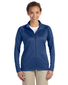 French Blue Hthr Ladies' Stretch Tech-Shell™ Compass Full-Zip