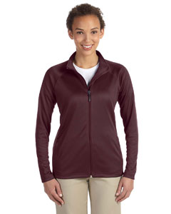 Burgundy Heather Ladies' Stretch Tech-Shell™ Compass Full-Zip