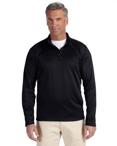 Black Men's Stretch Tech-Shell™ Compass Quarter-Zip
