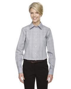 Wht/ Grph/ Lt Gr Ladies' Crown Woven Collection™ Glen Plaid
