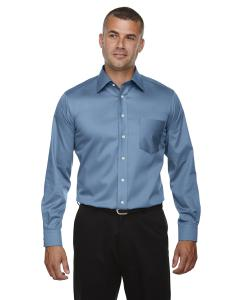 Slate Blue Men's Crown Woven Collection™ Solid Stretch Twill
