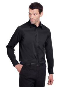 Black Men's Crown Collection™ Stretch Broadcloth Slim Fit Shirt