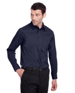 Navy Men's Crown Collection™ Stretch Broadcloth Slim Fit Shirt