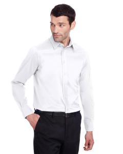 White Men's Crown Collection™ Stretch Broadcloth Slim Fit Shirt