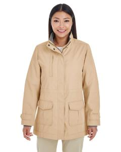 Khaki Ladies' Hartford All-Season Hip-Length Club Jacket