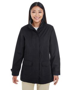 Black Ladies' Hartford All-Season Hip-Length Club Jacket