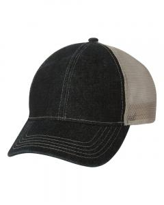 Black/ Putty Denim Mesh Back Cap