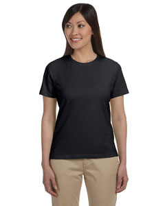 Black Women's Stretch Jersey T-Shirt