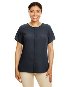 Black Ladies' Perfect Fit™  Short-Sleeve Crepe Blouse