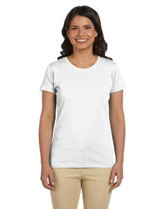 White Women's 4.4 oz., 100% Organic Cotton Short-Sleeve T-Shirt