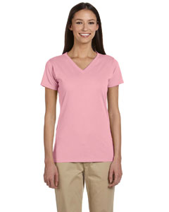 Blossom Women's 4.4 oz., 100% Organic Cotton Short-Sleeve V-Neck T-Shirt