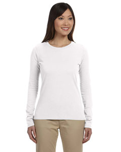 White Ladies' 4.4 oz., 100% Organic Cotton Long-Sleeve T-Shirt
