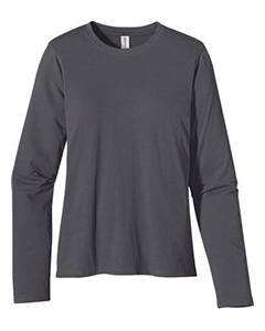 Charcoal Ladies' 4.4 oz., 100% Organic Cotton Long-Sleeve T-Shirt