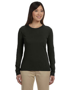 Black Ladies' 4.4 oz., 100% Organic Cotton Long-Sleeve T-Shirt