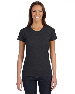 Charcoal/black Ladies' 4.25 oz. Blended Eco T-Shirt