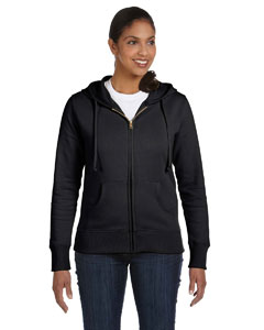 Charcoal Ladies' 9 oz. Organic/Recycled Full-Zip Hood
