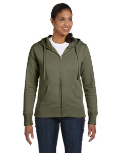 Jungle Ladies' 9 oz. Organic/Recycled Full-Zip Hood