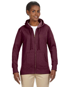 Berry Ladies' 7 oz. Organic/Recycled Heathered Fleece Full-Zip Hood