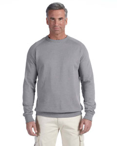 Athletic Grey 7 oz. Organic/Recycled Heathered Fleece Raglan Crew