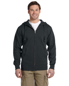 Charcoal Men's 9 oz. Organic/Recycled Full-Zip Hood